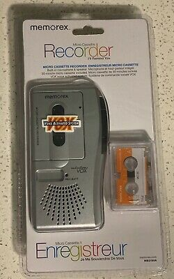NEW Memorex MB2186A Handheld Micro Cassette Tape Voice Recorder + VOX A6029
