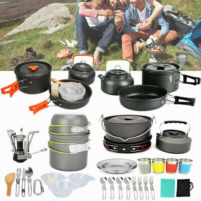 Portable Multifunctional Tableware Camping  Outdoor Hiking Picnic Cookware Set