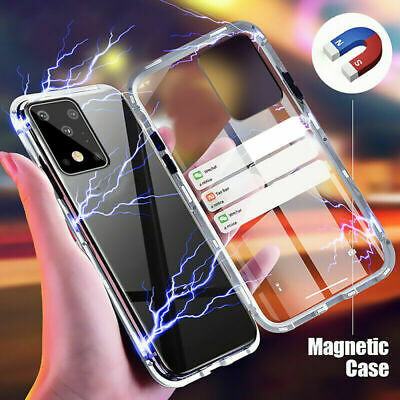 360° Full Protect Magnetic Metal Frame Double Sided Glass Slim Phone Case Cover