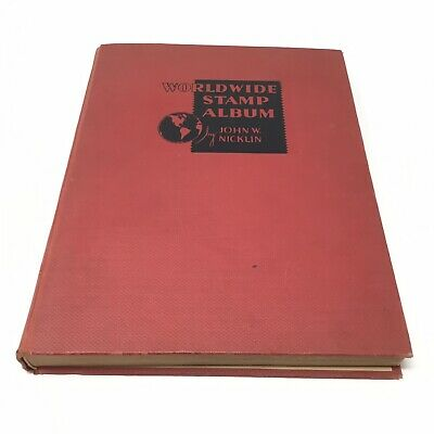 Vintage Worldwide Stamp Album 1934 John Nicklin 1000+ Stamps Lot Of Various