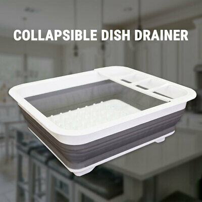【20%OFF】Collapsible Dish Drainer Rack Drying Cutlery Dryer Strainer Kitchen