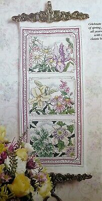 Lady With Yellow Bouquet~counted cross stitch pattern #687~People Ladies Chart
