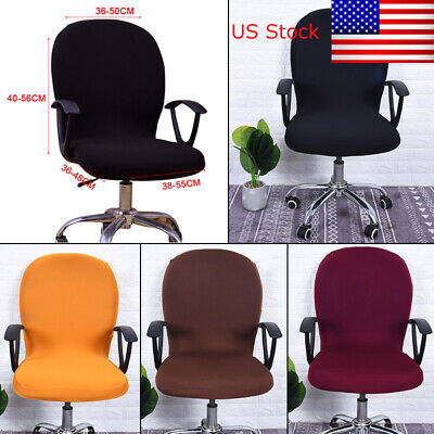 Swivel Seat Computer Chair Cover Stretch Office Spandex Protector Seat Cover US