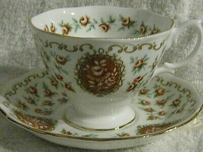 Royal Albert HEIRLOOM Cameo Series Lovely Bone China Cup & Saucer