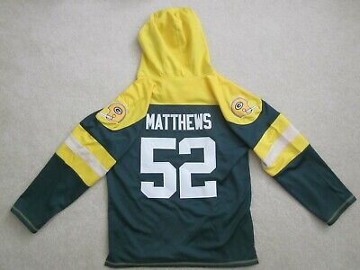 Clay Matthews GREEN BAY PACKERS Lace Up Hoodie Sweatshirt Jersey SEWN ON Mens XL