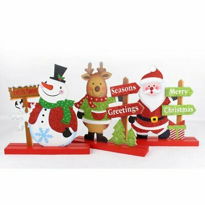 Christmas Decorations Wooden Desktop Small Ornaments for Home Office Desktop#O