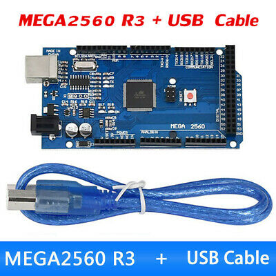 MEGA 2560 R3 Development Board CH340G ATMEGA 2560 Kit USB Cable For Arduino New