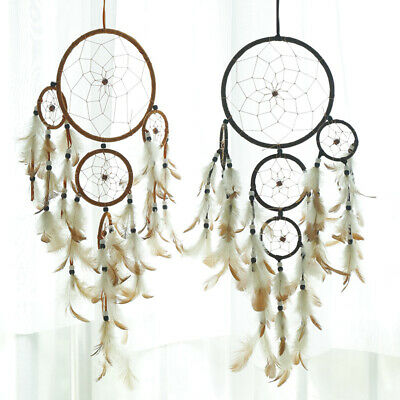 Large Handmade Feather Dream Catcher Car Wall Hanging Ornament Craft Home Decor