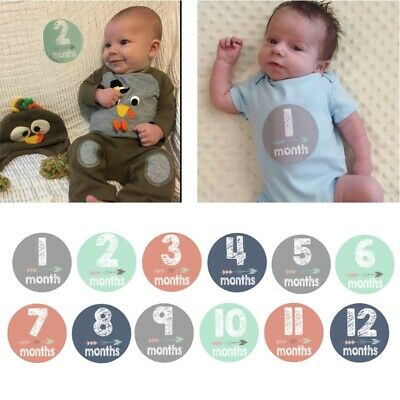 Baby Pregnant Women Monthly Photograph Stickers Month 1-12 Milestone Sticker Hot