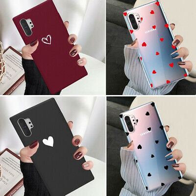 Samsung Galaxy Note 10 Plus Note 10 Ultra Slim Case Heart Protective Phone Cover
