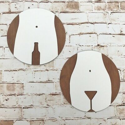 Funny Wooden Mens & Womens Toilet WC Bar Restaurant Pub Sign Signage