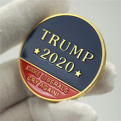 US 45Th President Donald Trump 2020 Make Liberals Cry Again Gold Challenge Coin*