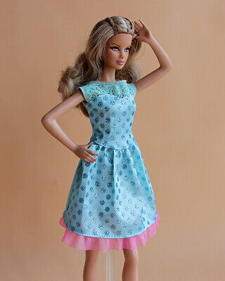 BARBIE Doll Hollow Out Lace Dress Outfit Clothes