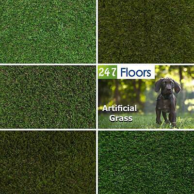 5m Wide Artificial Grass, Quality Realistic Garden Lawn Green Astro Turf 5 Metre