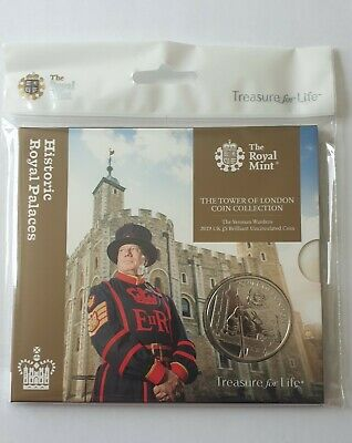 Royal Mint £5 Coin Brilliant Uncirculated - Tower Of London Yeoman Warders 2019