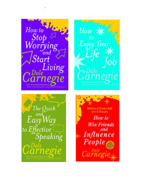 Dale Carnegie Set How to Win Friends,Stop Worrying Start Living, Enjoy Life ....