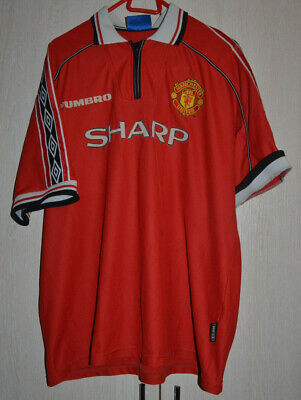 Manchester United 1998/1999/2000 Football Shirt Jersey Umbro Size Xxl #99 Trible