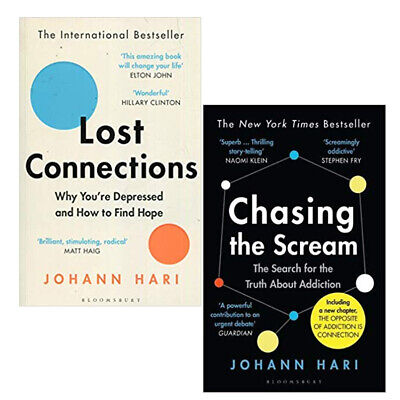 Johann Hari  Lost Connections,Chasing the Scream Truth   2 Books Collection Set