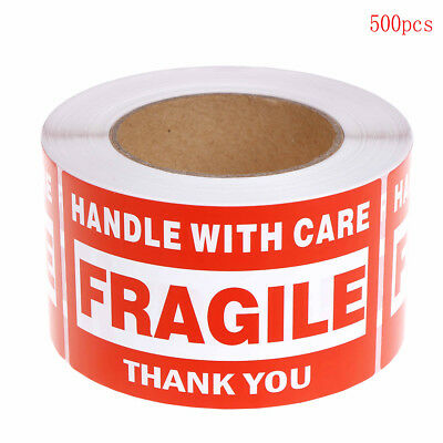 500X Fragile Sticker Up and Handle With Care Keep Dry Shipping Label 76x127mm  I