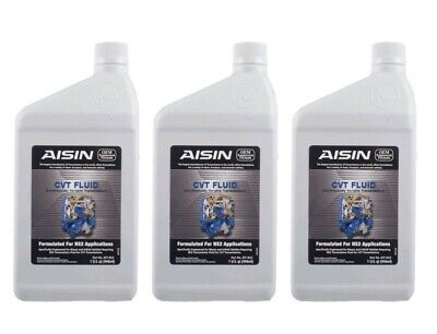 NEW Set of 3 Aisin Continuously Variable Trans NS-2 CVT Fluid 1 Quart For Nissan
