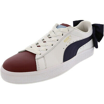 pretty nice d574a c4fb0 PUMA BASKET BOW Women's Leather Low Top Fashion Sneakers ...