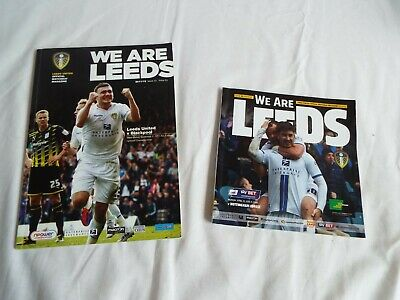 Leeds United Football Programme x2 - 2011 and 2014 Home Games