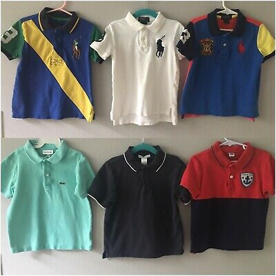 Ralph Lauren, Lacoste, Janie And Jack Polo Shirts Lot 4t