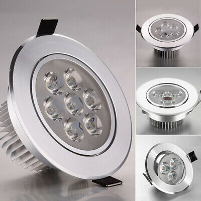 1/4 Pcs 3W To 7W COB LED Ceiling Downlights Angle Adjustment Recessed Spotlights