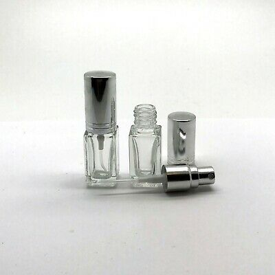 5ml Glass Spray Bottle Empty Refillable Clear Perfume Oil Compact Atomizer Pump
