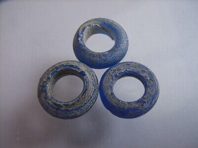 3 Ancient Celtic Glass Beads, Celts VERY RARE!  TOP !!