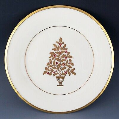 "Lenox China ETERNAL Xmas Salad Accent Plate 1stQualtiy 8 1/8"" Holiday Dining"