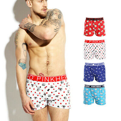 4 Pack Mens Location Boxer Shorts Trunks Gift Underwear Novelty Cotton Boxers