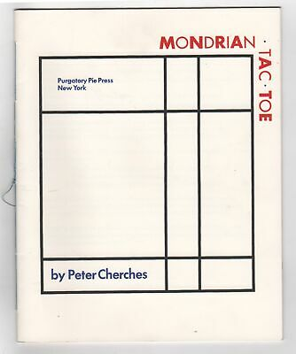 Peter CHERCHES / MONDRIAN TIC TAC TOE Signed 1st Edition 1984