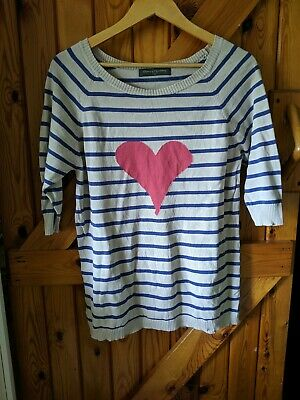 Blooming Marvelous Maternity Jumper Heart Striped Size 10