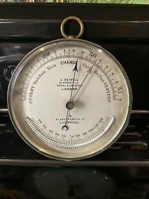 Antique Marine Barometer By J Sewill- Royal Exchange - London - Liverpool