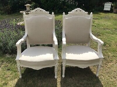 Stunning pair of old antique french armchairs