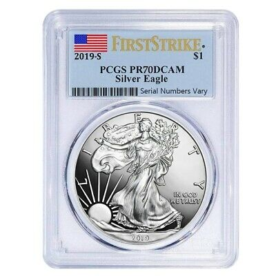 2019-S 1 oz Proof Silver American Eagle PCGS PF 70 DCAM First Strike