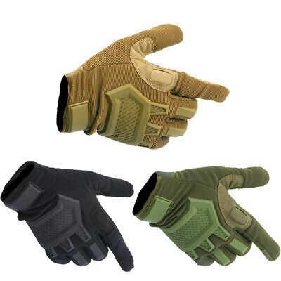 Military Hard Knuckle Motorcycle Motorbike Combat Tactical Full Finger Gloves US
