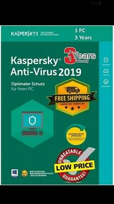 KASPERSKY Anti-Virus 2019 1 Device 3years 1095 day SEND CODE BY MAIL GARANTED