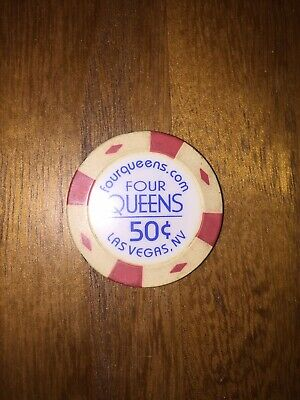 Four Queens Casino 50 ¢ Cent Hotel Gaming Gambling Poker Chip Las Vegas Nevada $