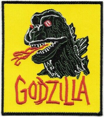 Godzilla Monsters Japan Embroidered Patch Iron-On Sew-On fast US shipping