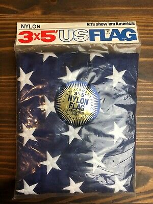 NEW 3x5 ft American US Flag Nylon Betsy Flags Embroidered Stars Grommets