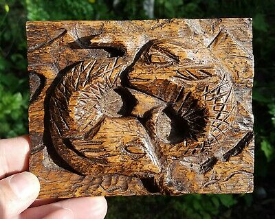 Newlyn Wooden Carved Fish Art and Crafts Plaque St Ives Cornwall