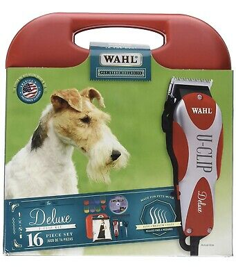 WAHL Deluxe U-Clip Pet Clipper & Grooming Kit 16 Piece Set, Professional Animal