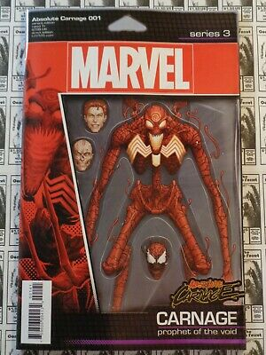 Absolute Carnage (2019) Marvel - #1, JTC Action Figure Variant, 60 Pgs, NM