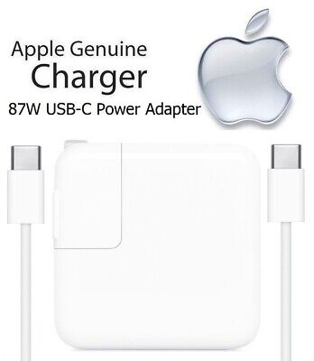 Apple 87W USB-C Power Adapter + USB-C Charge Cable for MacBook Pro 13-inch A1719