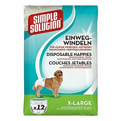Simple Solution Couches Jetables Pour Chiens Taille Extra Large - 12 Pièces