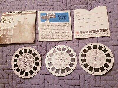 Vintage GAF Viewmaster B 793 Old Time Stereo Famous People Reels