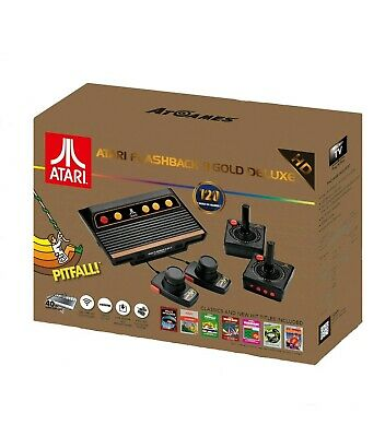 Atari Flashback 8 Gold DELUXE 120 Games 2 Controllers 2 Paddles Retro Console