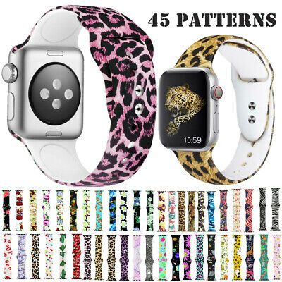 Silicone Watch Straps For Apple iWatch Series 4 3 2 1 Replacement Bracelet Strap